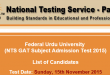 Federal Urdu University NTS GAT Subject Test Result 2015 FUUAST Answer Keys