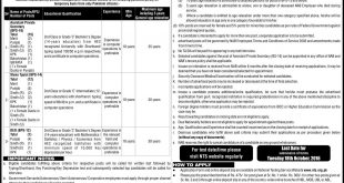 National Accountability Bureau NAB Jobs 2016 NTS Application Form Date