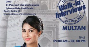 Air Blue Female Air Hostess Jobs 2018 Interview Dates, Venue
