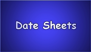 Matric 10th Class Date Sheets 2017 For All Boards