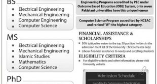 HITEC University Taxila Admission 2016 Form Apply Online BS, MS, PhD