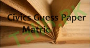 10th Class Civics Guess Paper 2017 Lahore Board Important Questions