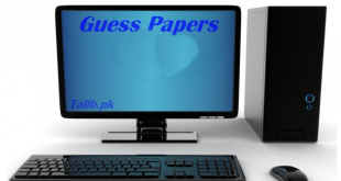 Computer Science Guess Paper 2017 10th Class Important Questions