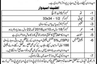 Punjab Police SPU Constable Jobs 2016 Application Form Specialized Protection Unit