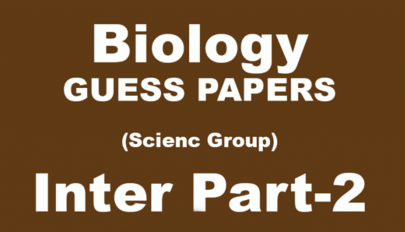 Biology Guess Paper 12th Class 2017 FSc Lahore Board