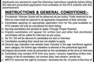 MEPCO Jobs 2018 Multan Electric Power Company Jobs Application Form, NTS Test Date