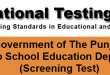Schools Education Department NTS Test Result 2017 27th, 28th, 29th, 30th December