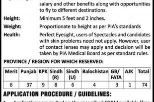 Pakistan Airways Limited PIA Air Hostess Jobs 2018 Apply Online Eligibility