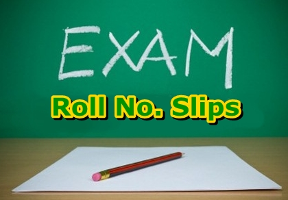 University of Peshawar UOP BA, BSc Roll No Slips 2016 download