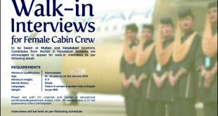 Female Cabin Crew Jobs In Shaheen Airline 2018 Walk In Interview