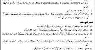 Pakistan Railways Station Master, Assistant Driver Jobs 2016 Application Form Download