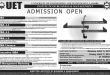 UET IBM Admissions 2017 Schedule For BBA, MBA