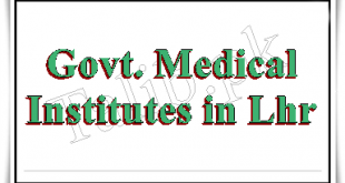 Government Medical Colleges And Universities In Lahore