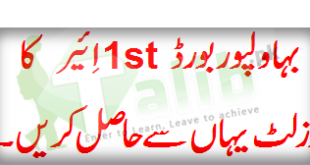 Bahawalpur Board 1st Year Result 2019