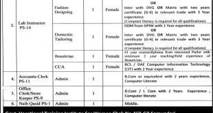 Govt Of Punjab TEVTA Jobs 2017 Application Form Download Online Last Date