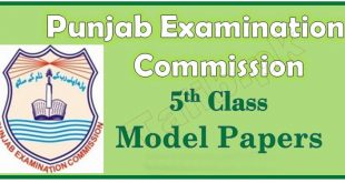 PEC 5th Class Model Papers 2017 Download English, Math, Science, Urdu Subjects