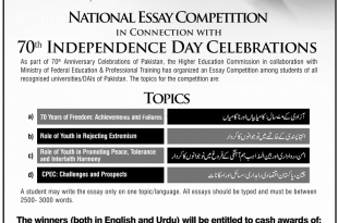 Essay And Speech Competition 2019 Punjab Government