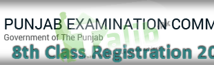 PEC 8th Class Registration Form 2018 Schedule Download Admission Form