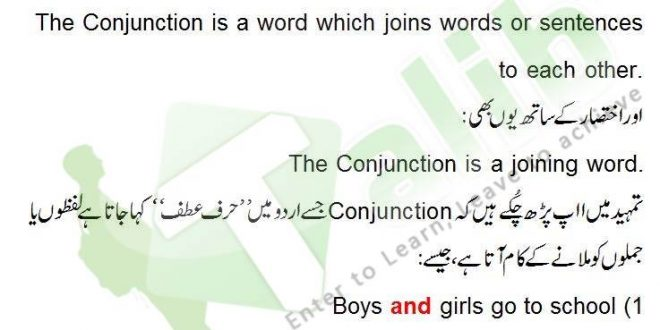 Conjunction Definition And Examples In Urdu, Kinds Of