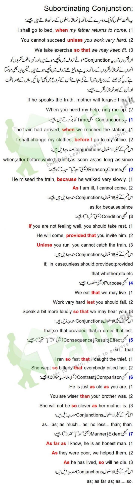 Coordinating Conjunction And Subordinating Conjunction Definition And Examples In Urdu