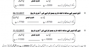 University Of Sargodha Ba, Bsc Admission Form Schedule 2018
