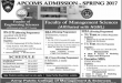 Army Public College APCOMS Admission Spring 2017 Apply Online Form, Last Date