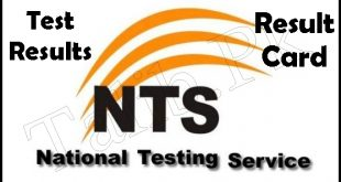 NTS Results 2019 Test By Roll No And Name Wise Result Card