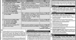 Pakistan Army Jobs As Captain/ Major 2017 Through SSRC Online Registration