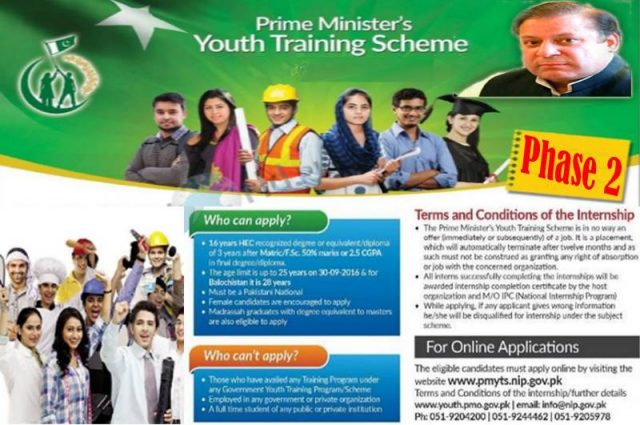 PM Youth Training Program 2017 Phase 2 NIP Online Registration Form, Last Date