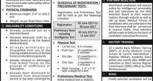 Join Pakistan Army As Medical Cadet 2017 In Army Medical Corps