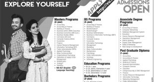 Virtual University VU Spring Admission 2018 Apply Online Last Date