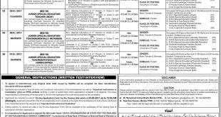 PPSC Special Education Teachers Jobs 2017 Apply Online Last Date