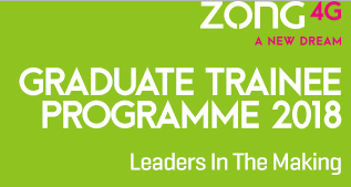 Zong Graduate Trainee Program 2018 Internship Apply Online Registration Form