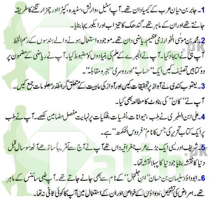 Muslim Scientist And Their Inventions In Urdu