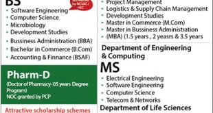 Abasyn University Islamabad Admissions Fall 2017 Form, Last & Test Date