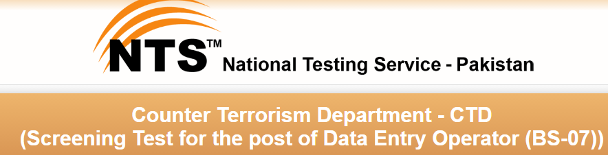 Counter Terrorism Department NTS Test Result 2017 CTD Online Answer Keys
