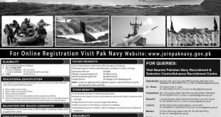Join Pakistan Navy As PN Cadet 2018 A Permanent Commission Online Registration