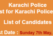 Karachi Police Constable NTS Test Result 2017 Answer Keys 7th May Test