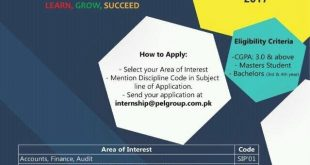 PEL Summer Internship Program 2017 Apply Online Last Date, Eligibility