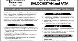 HEC Indigenous Scholarship 2018 For Master, MPhil Application Form
