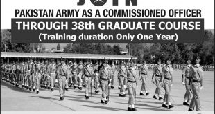 Join Pak Army As Commissioned Officer 2018 Through 38th Graduate Course Online Registration Form