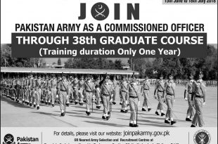 Join Pak Army As Commissioned Officer 2019 Through 39th Graduate Course Online Registration Form