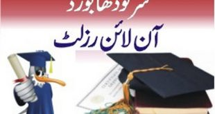 BISE Sargodha Matric Result 2018 By Name, Roll Number, SSC Part 2