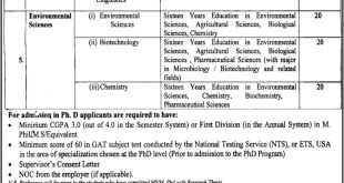 Fatima Jinnah Women's University FJWU Admissions 2017 Form, Last & Interview Dates