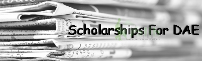 Scholarships For DAE Students In Pakistan 2017