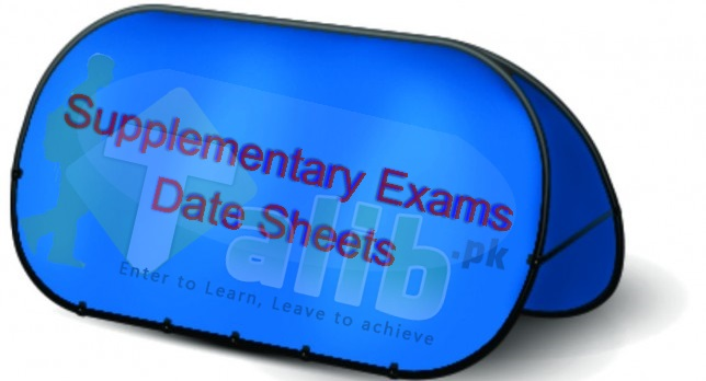 Matric Supplementary Date Sheet 2018 All Punjab Boards 9th / 10th Class