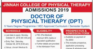 Jinnah Medical & Dental College JMDC Karachi Admissions 2018 MBBS, BDS