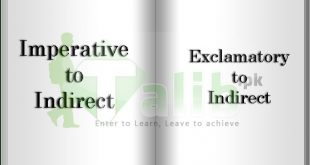 Changing Imperative Exclamatory Sentences To Indirect Speech In Urdu