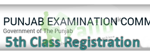 PEC 5th Class Registration Form 2019 Schedule Download Admission Form