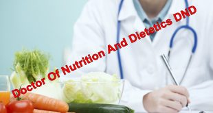 Doctor Of Nutrition And Dietetics DND Scope, Salary In Pakistan Universities Offering